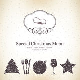 Special Christmas menu design Stock Photo