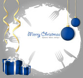 Special christmas menu Stock Images