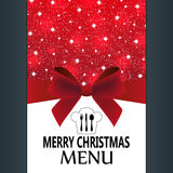 Special Christmas menu Stock Image