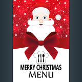 Special Christmas menu Stock Photos