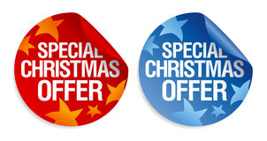 Special Christmas offer stickers. Royalty Free Stock Photo