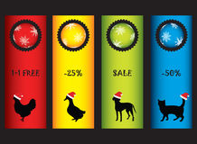 Special Christmas price tags Royalty Free Stock Photo