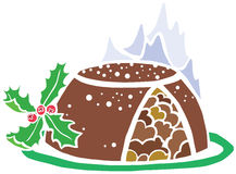 Special Christmas Pudding Royalty Free Stock Photography