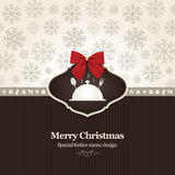 Special Christmas restaurant menu Stock Images