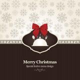 Special Christmas Restaurant Menu Stock Images