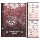 Special Christmas Restaurant menu for pizza Royalty Free Stock Photos