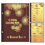 Special Christmas Restaurant menu for pizza Stock Photography