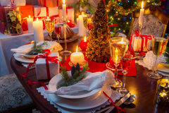 Special Christmas setting table Royalty Free Stock Photography