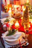 Special Christmas setting table Stock Image