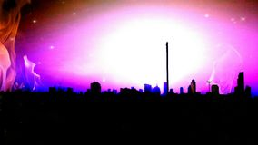 Special city. Edit so pink and special Stock Images