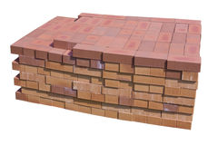 Special clay bricks for fireplaces Stock Photo