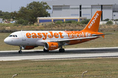 Special color scheme Easyjet Airbus Stock Image