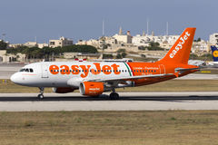 Special color scheme Easyjet Airbus Royalty Free Stock Photo