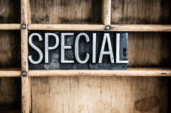 Special Concept Metal Letterpress Word in Drawer Stock Images