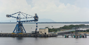 Special continuous ship coal unloader Stock Images