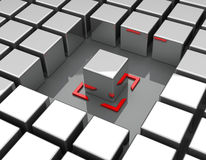 The special cuboid Stock Photo
