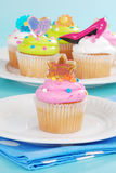Special cupcakes for mothers day. Closeup of Special cupcakes for mothers day Royalty Free Stock Image