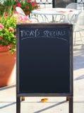 Special d'aujourd'hui : signe Photos stock