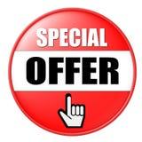 special d'offre de bouton Images stock