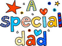 A special dad vector illustration