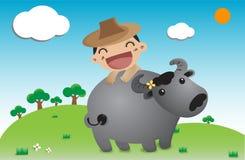 Special day farmer cartoon Royalty Free Stock Photography