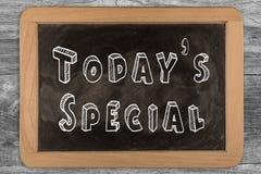 Special de hoje - quadro com texto esboçado Imagem de Stock Royalty Free