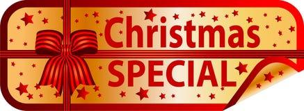 Special de la Navidad del botón de oro Foto de archivo