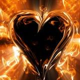 Special de las tarjetas del día de San Valentín - corazones que brillan intensamente Imagen de archivo libre de regalías