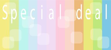 Special Deal Background for Special Price Products Royalty Free Stock Images