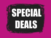 Special deals banner Stock Photography