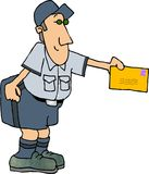 Special Delivery. This illustration that I created depicts a mailman delivering a letter Royalty Free Stock Photography