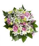 Special delivery flowers. Studio shot over white Royalty Free Stock Images