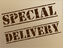 Special Delivery Means Notable Courier And Unique Royalty Free Stock Photo
