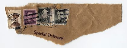 Special Delivery Postage Stock Photos