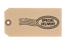 Special Delivery tag. Stock Photo