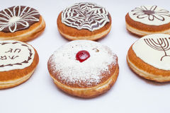 Special  Different types of donuts Hanukkah Stock Photo