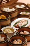 Special dim sum on bamboo tray.  Royalty Free Stock Photography