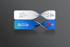 Special discount banner template design. Vector file Stock Images