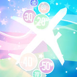 Special Discount Plane Travel Background Stock Image