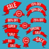 Special Discount Sale Banner, Batches And Arrows Vector Set Stock Image