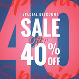 Special Discount Sale 40 percent heading simple modern design fo Stock Photo