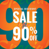 Special Discount Sale 90 percent heading simple modern design fo Royalty Free Stock Images