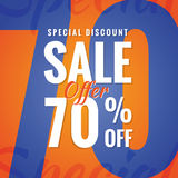 Special Discount Sale 70 percent heading simple modern design fo Stock Photo