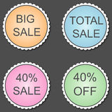 Special discount 40% sticker.Vector. Stock Photography
