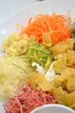 A special dish during Chinese New Year called Yusheng or Yee Sang Stock Image