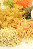 A special dish during Chinese New Year called Yusheng or Yee Sang Royalty Free Stock Photo