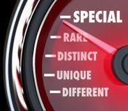 Special Distinct Different Speedometer Measure Uniqueness Stock Image