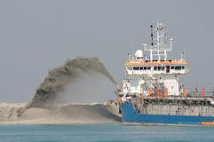 Special dredge ship royalty free stock images