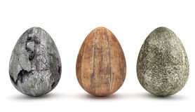 Special Easter Eggs I. Special Easter Eggs with grungy textures vector illustration
