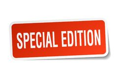 Special edition sticker Royalty Free Stock Photos